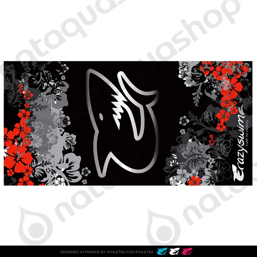 CRAZY COTTON TOWEL - HAWAII COLLECTION HAWAII BLACK couleurs