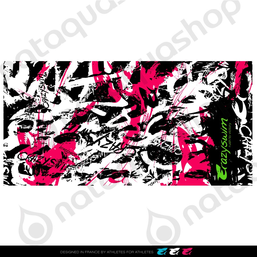 WILD GRAFF TOWEL   PINK couleurs