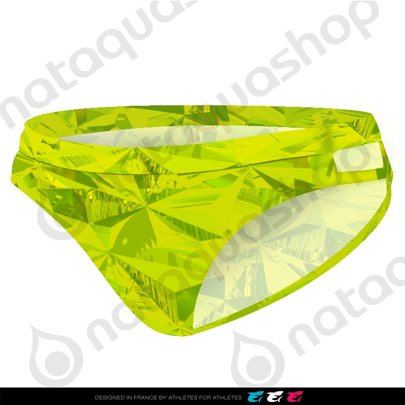 PRIMEVAL DOUBLE STRAP BRIEF - FEMME VERT LIME
