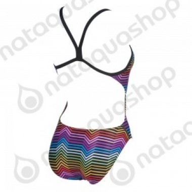 W MULTICOLOR STRIPES CHALLENGE BACK ONE PIECE - photo 1