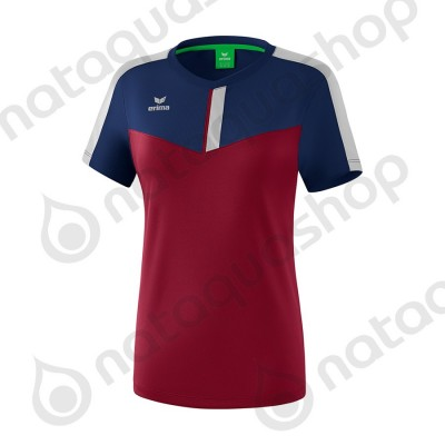 T-SHIRT SQUAD - LADIES new navy/bordeaux/silver grey