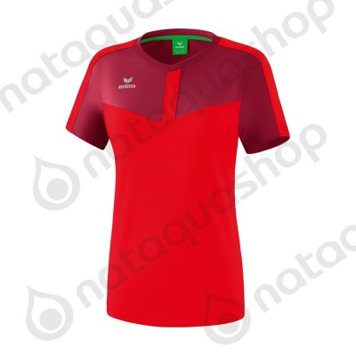 T-SHIRT SQUAD - LADIES burgundy/red