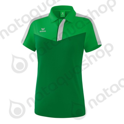 POLO SQUAD - LADIES fern green/smaragd/silver grey