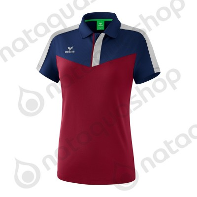 POLO SQUAD - LADIES new navy/bordeaux/silver grey