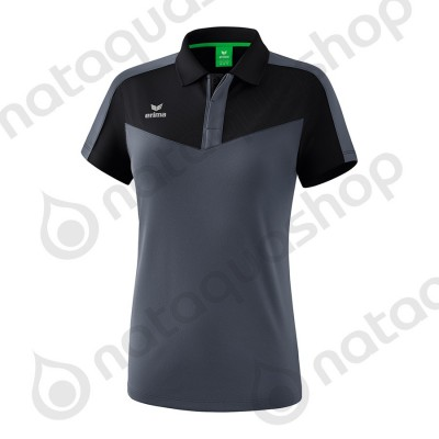 POLO SQUAD - LADIES black/slate grey
