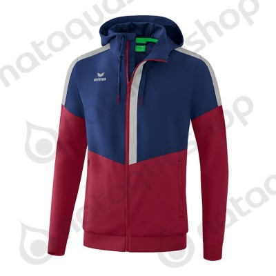VESTE A CAPUCHE TRACKTOP SQUAD - ADULTE new navy/bordeaux/silver grey