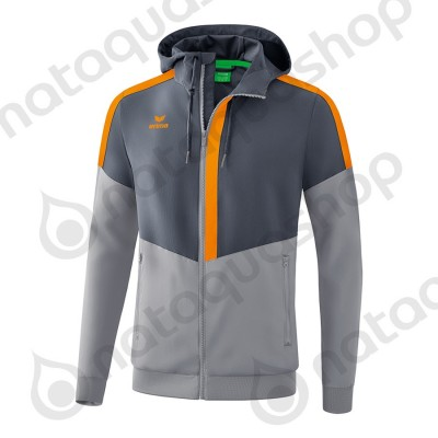 VESTE A CAPUCHE TRACKTOP SQUAD - ADULTE slate grey/monument grey/new orange