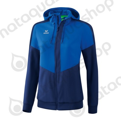 VESTE A CAPUCHE TRACKTOP SQUAD - FEMME new roy/new navy