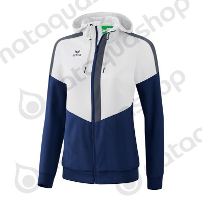 VESTE A CAPUCHE TRACKTOP SQUAD - FEMME blanc/new navy/slate grey
