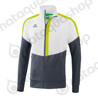 VESTE WORKER SQUAD - JUNIOR blanc/slate grey/bio lime
