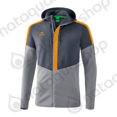 VESTE D'ENTRAINEMENT A CAPUCHE SQUAD - ADULTE slate grey/monument grey/new orange