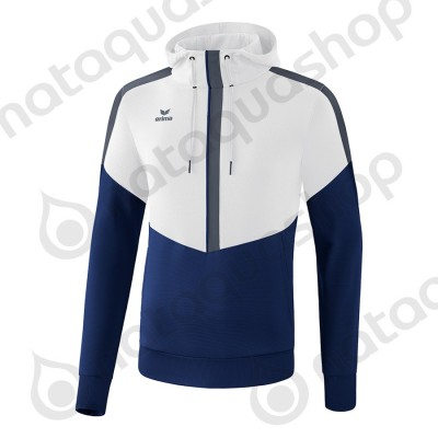 SWEAT A CAPUCHE SQUAD - JUNIOR blanc/new navy/slate grey