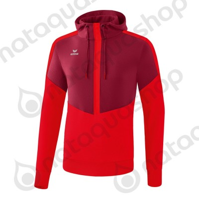 SWEAT A CAPUCHE SQUAD - ADULTE bordeaux/rouge