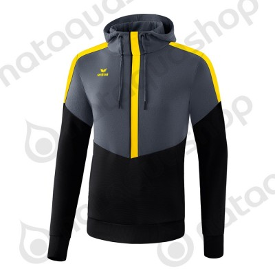 SWEAT A CAPUCHE SQUAD - ADULTE slate grey/noir/jaune