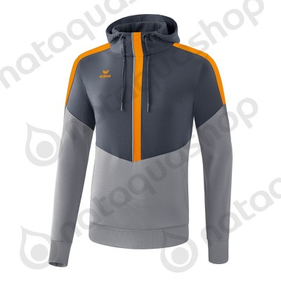 SWEAT A CAPUCHE SQUAD - ADULTE slate grey/monument grey/new orange