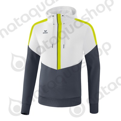 SWEAT A CAPUCHE SQUAD - ADULTE blanc/slate grey/bio lime