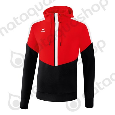 SWEAT A CAPUCHE SQUAD - ADULTE rouge/noir/blanc