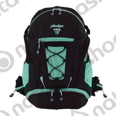 PHELPS TEAM BACK PACK Black/turquoise