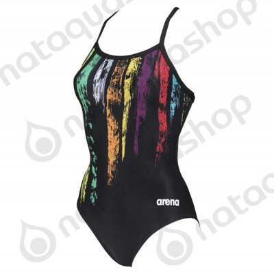 W TEAM PAINTED STRIPES LIGHT DROP BACK ONE PIECE black/multi yellow