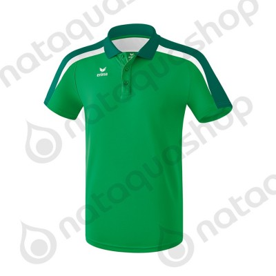 POLO LIGA 2.0 - HOMME emeraude/evergreen/blanc
