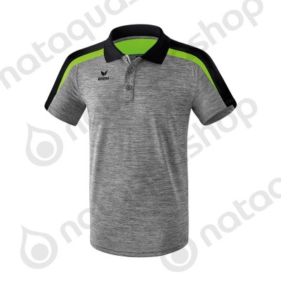 POLO LIGA 2.0 - MEN gris chiné/noir/green gecko