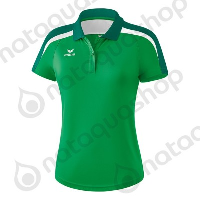 POLO LIGA 2.0 - LADIES emeraude/evergreen/blanc