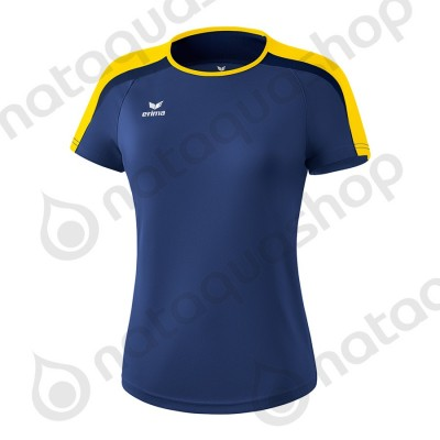T-SHIRT LIGA 2.0 - FEMME new navy/jaune/dark navy