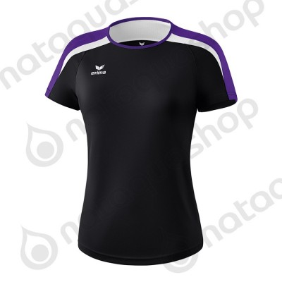 T-SHIRT LIGA 2.0 - LADIES noir/dark violet/blanc
