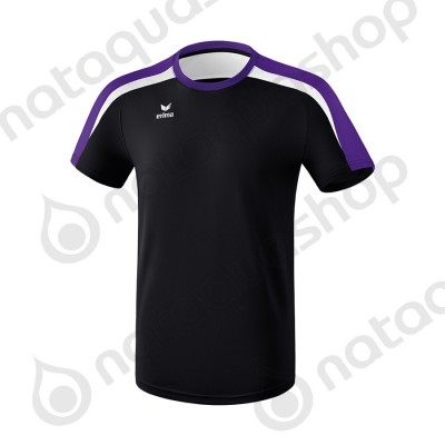 T-SHIRT LIGA 2.0 - JUNIOR noir/dark violet/blanc