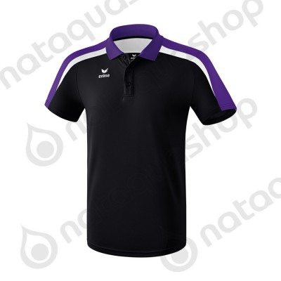 POLO LIGA 2.0 - JUNIOR noir/dark violet/blanc