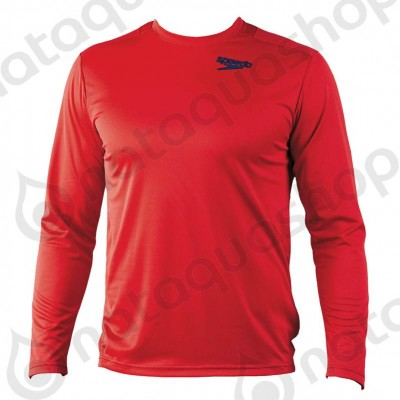 ILIAS UNISEX TECHNICAL LS-SHIRT Rouge