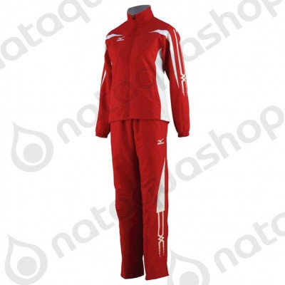WOVEN TRACK SUIT Rouge/blanc