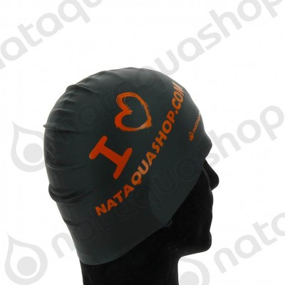 I LOVE NATAQUA - SILICONE SUEDE CAP noir/orange