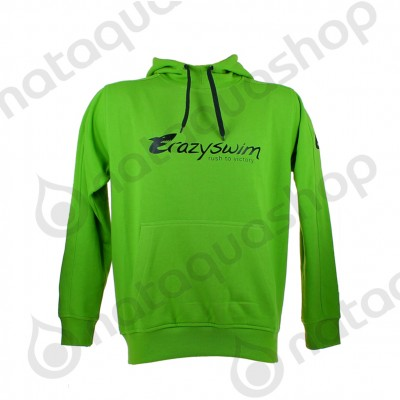 CRAZY SWIM HOODIE green/black