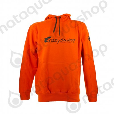 CRAZY SWIM HOODIE Orange/noir