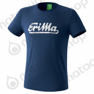 best choice 50% price check out T-SHIRT RETRO HOMME navy/white - ERIMA - CLOTHING