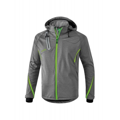 VESTE SOFTSHELL FONCTION - HOMME grey melange/green gecko