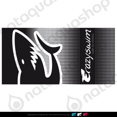 CRAZY COTTON TOWEL BLACK SHARK
