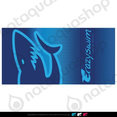 CRAZY COTTON TOWEL BLUE SHARK