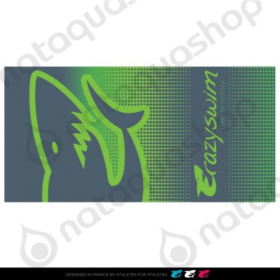 CRAZY COTTON TOWEL GREEN SHARK