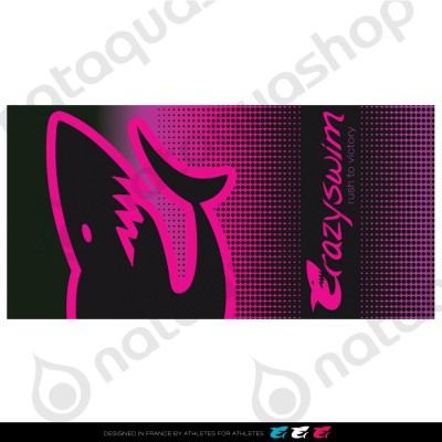 CRAZY COTTON TOWEL PINK SHARK