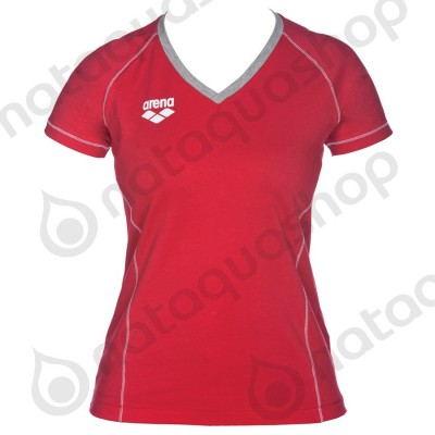TL SS TEE - FEMME Rouge