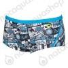 COMICS LOW WAIST SHORT - HOMME   turquoise/ black