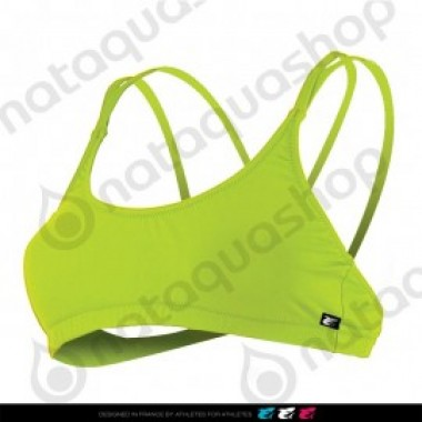 LAMIA TOP CRISS-CROSS BACK - FEMME VERT LIME - photo 0