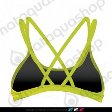 LAMIA TOP CRISS-CROSS BACK - FEMME VERT LIME - photo 1