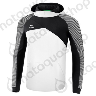 SWEAT A CAPUCHE PREMIUM ONE 2.0 - JUNIOR Blanc/noir/blanc