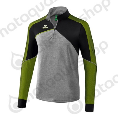SWEAT D'ENTRAINEMENT PREMIUM ONE 2.0 - HOMME gris chiné/noir/lime pop