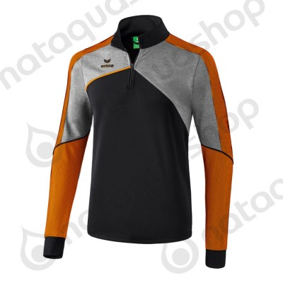 SWEAT D'ENTRAINEMENT PREMIUM ONE 2.0 - JUNIOR noir/gris chiné/fluo orange