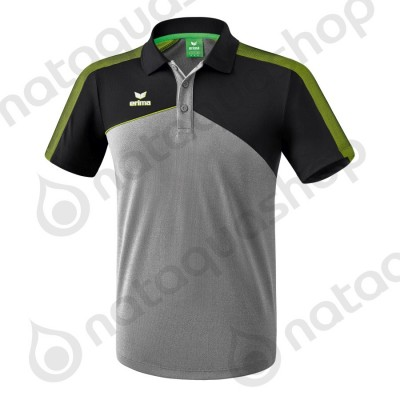 POLO PREMIUM ONE 2.0 - HOMME gris chiné/noir/lime pop