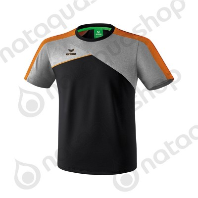 TEE-SHIRT PREMIUM ONE 2.0 - JUNIOR noir/gris chiné/fluo orange